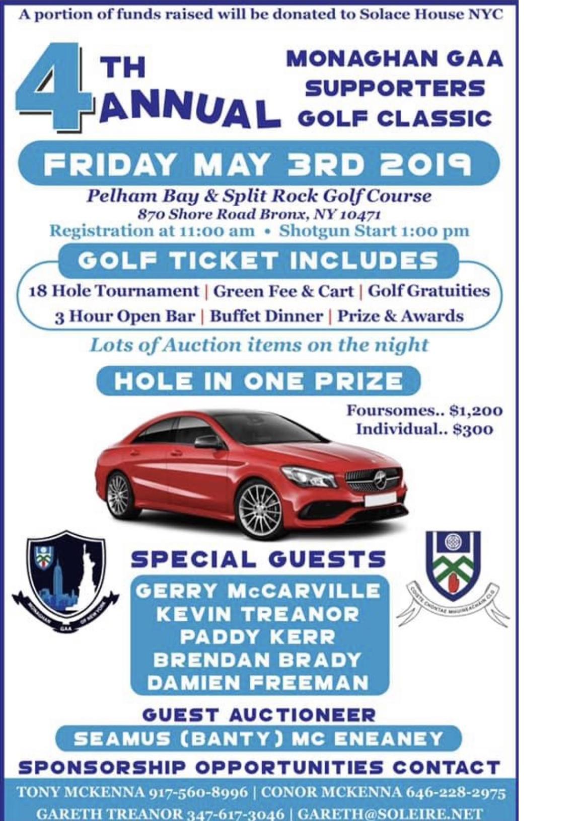 Annual Monaghan GAA New York Supporters Golf Classic