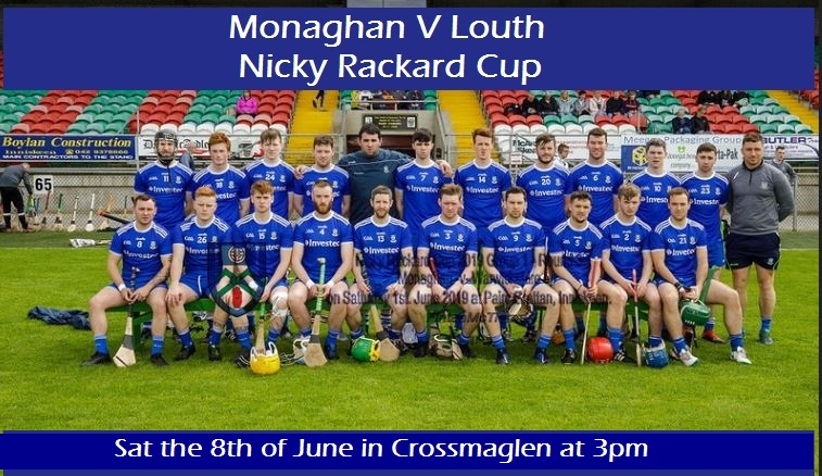 Good Luck to our Senior Hurlers in the Nicky Rackard Cup today