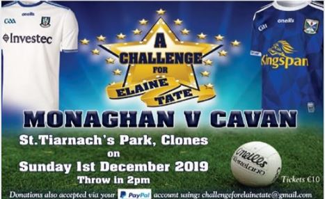Save the date… 1st of December for Monaghan V Cavan