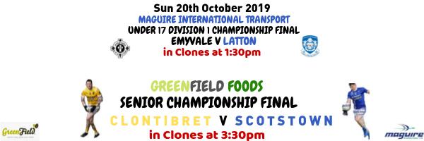 Clontibret and Scotstown contest SFC Final