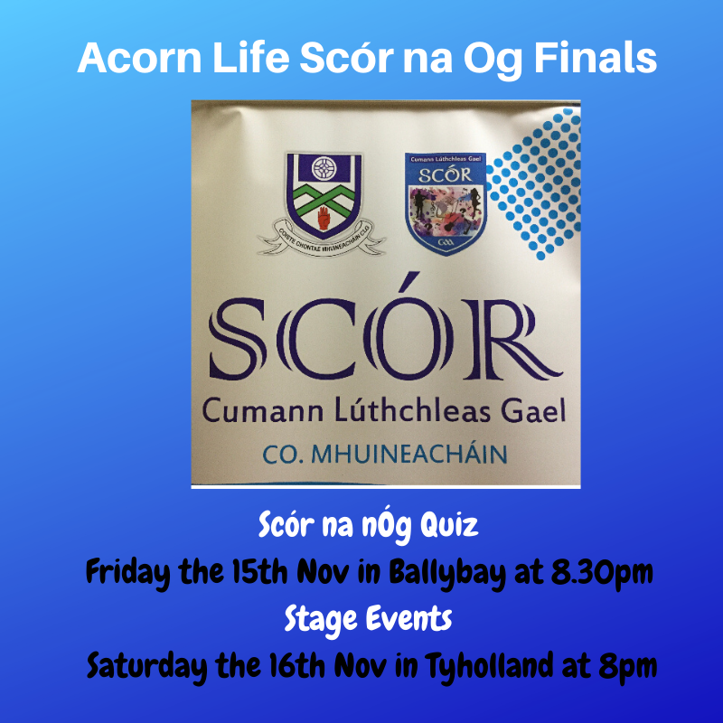 The Countdown is on this weekend for the Acorn Life Scór na Og!!
