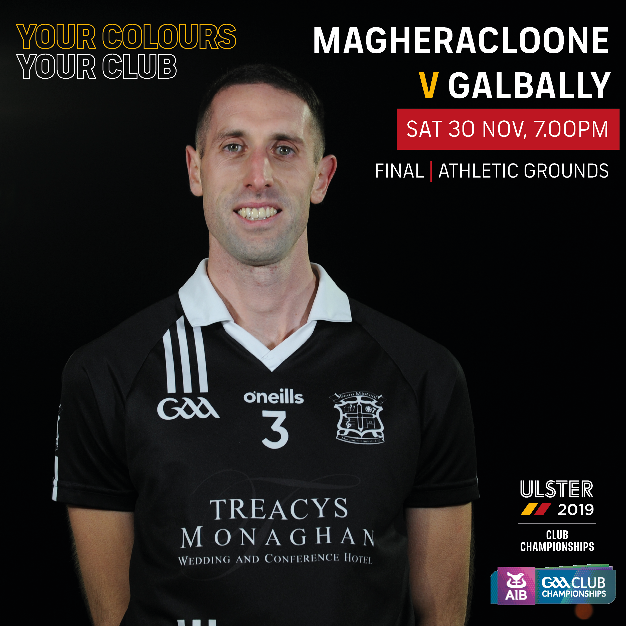 Countdown is on…. AIB Ulster Intermediate Club Final Magheracloone V Galbally this Saturday