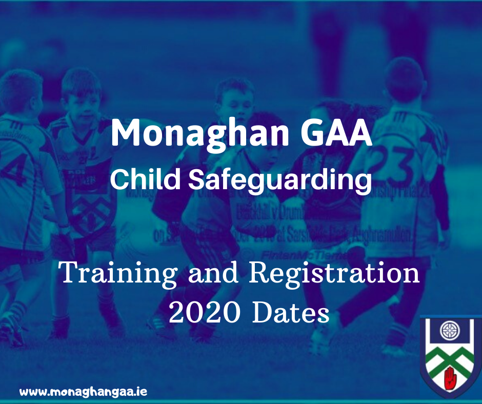Monaghan GAA announce more dates for Child Safeguarding Courses
