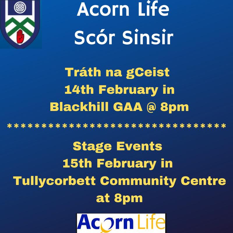 Its the Acorn Life Scór Sinsir TIME!!