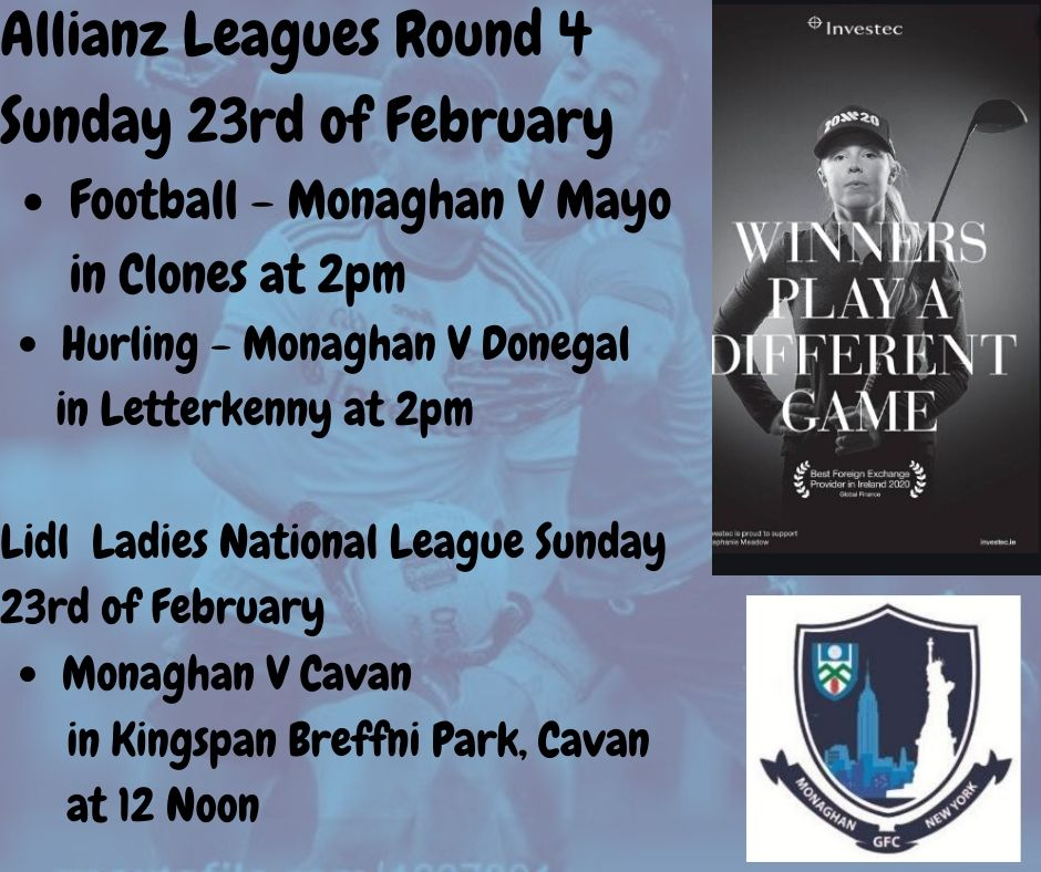 Best of luck today to our Senior Footballers, Hurlers and Ladies