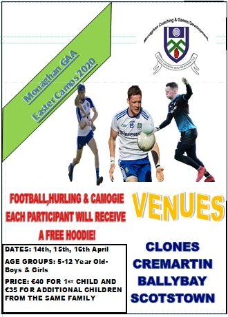 Monaghan GAA Easter Camps 2020!!