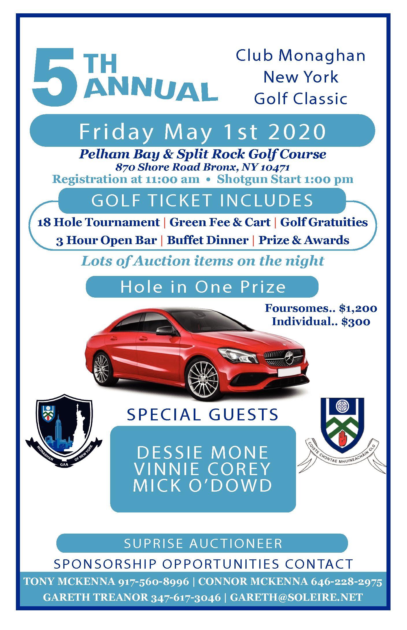 The 5th Annual Club Monaghan GAA New York Golf Classic