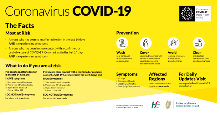 Covid-19 outbreak Guidelines for Clubs