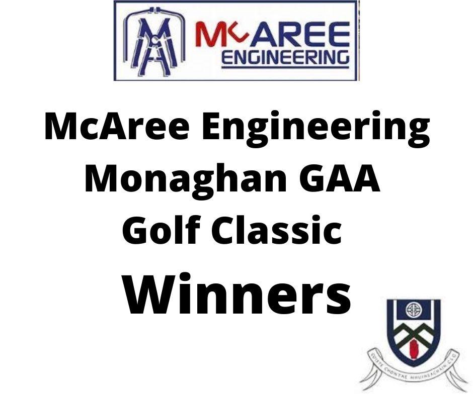 McAree Engineering Monaghan GAA Annual Golf Classic Results