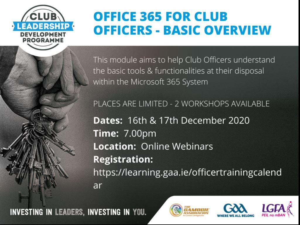Club Leadership Development Programme 2020/21 Online Registrations