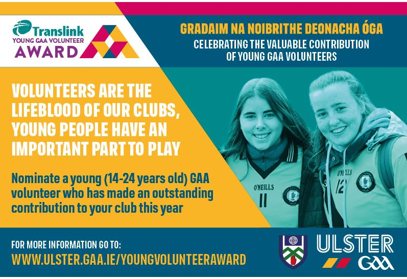 2021 Ulster GAA Translink Young Volunteer of the Year Award