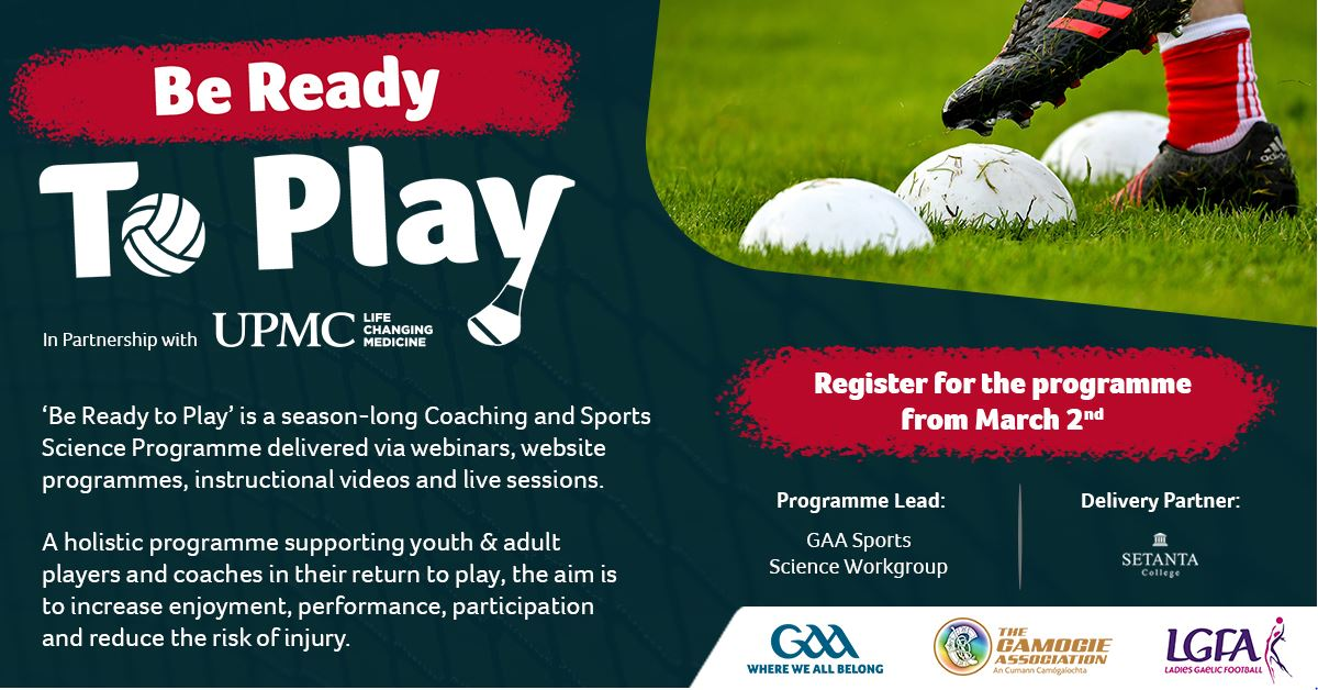 GAA Lauch the Get Ready to Play Programme