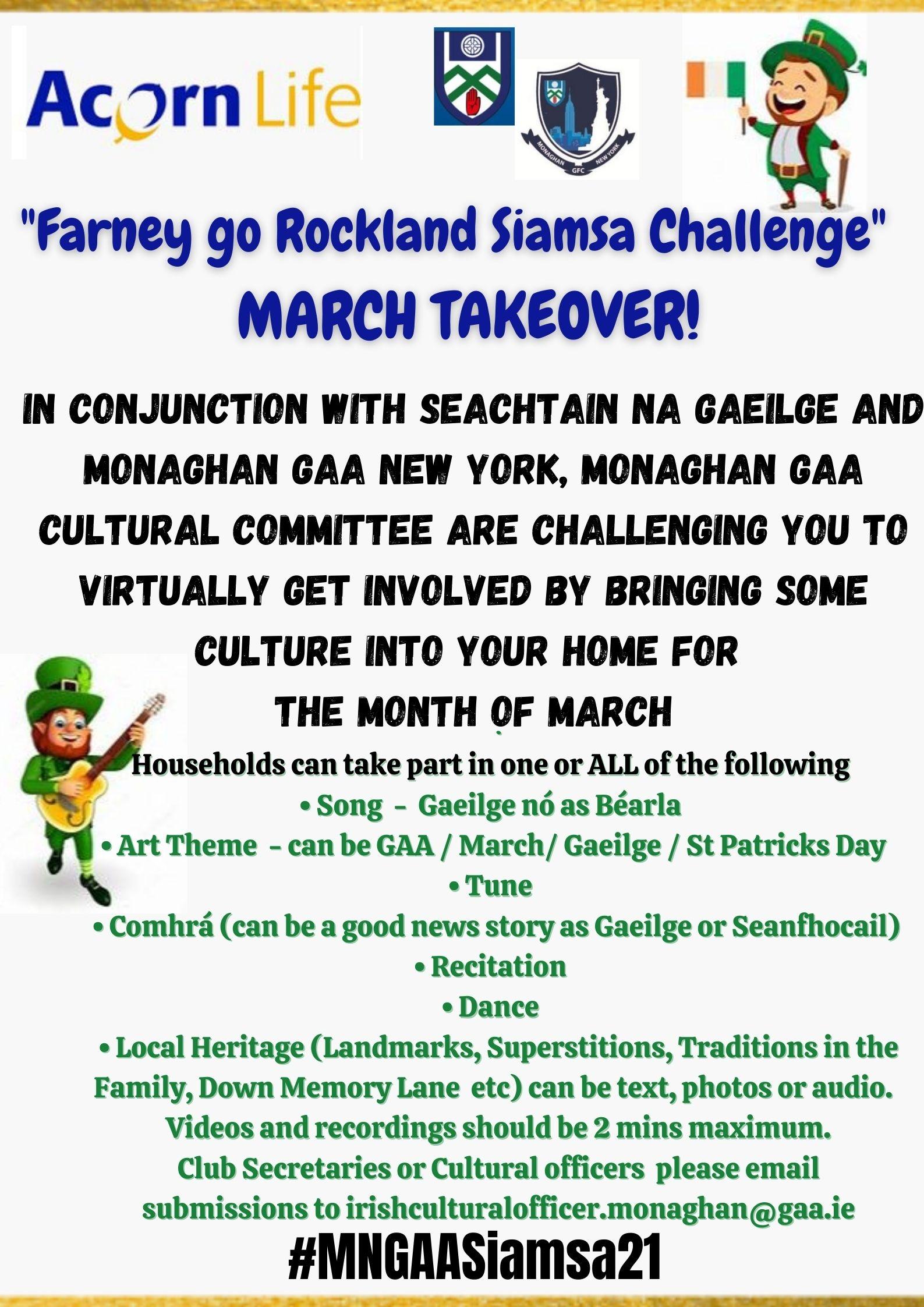 Acorn Life 'Farney go Rockland Siamsa Challenge 2021'