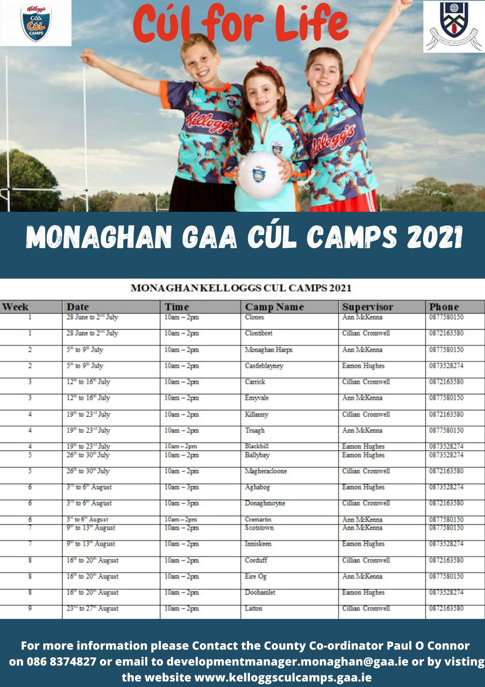 GAA CÚL CAMPS 2021 are back and ready for Fun