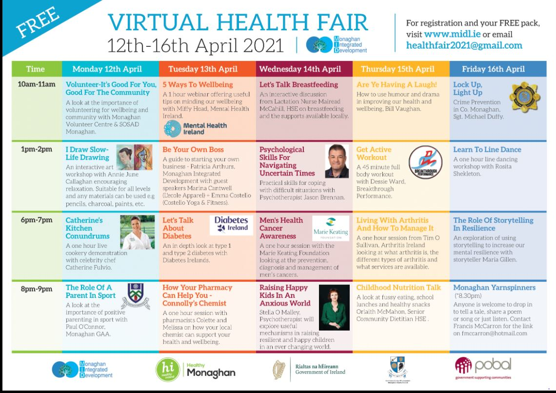FREE Virtual Health Fair from Monaghan Integrated Development