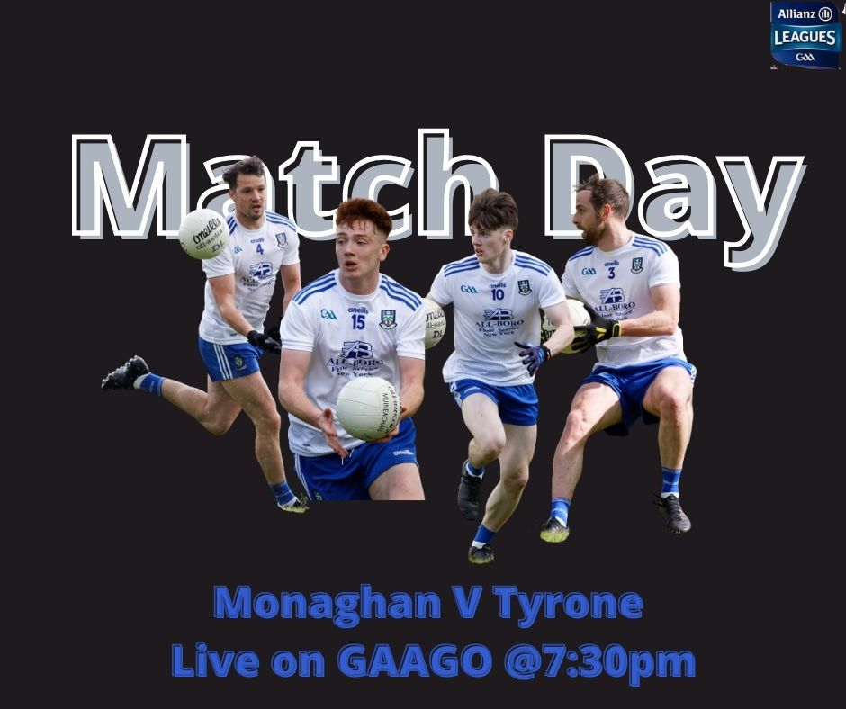 Best of luck to our Senior Footballers and Team Management tonight in Healy Park,Omagh