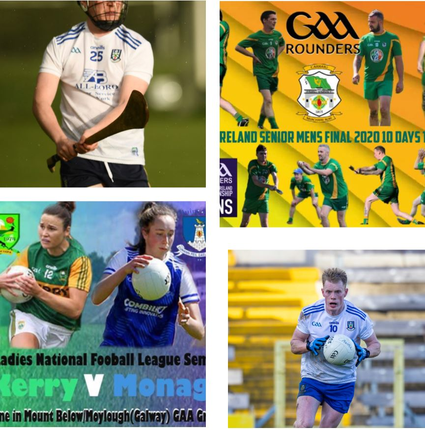 Football, Hurling, Ladies Football and All Ireland Rounders FINAL – all this weekend