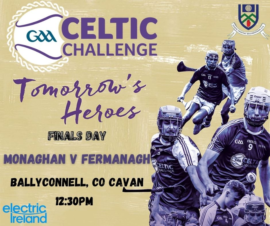 Best of luck to the Monaghan GAA Celtic Challenge team and Monahan Ladies today