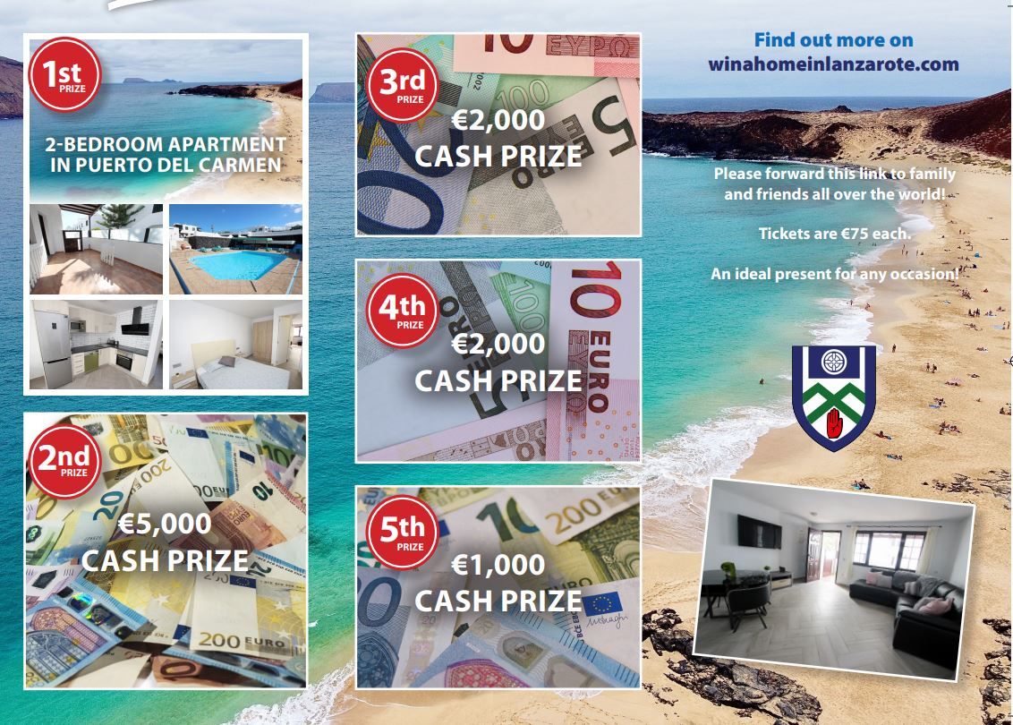 Dont Miss Monaghan GAA  'Win a home in LANZAROTE' for just €75