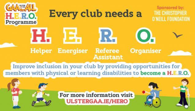 Ulster GAA launch GAA for All Club HERO Programme